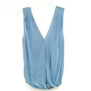 Joie Ziggy Faux Silk Wrap Top Size XS